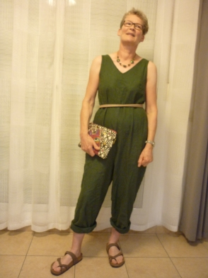 In the folds peppermint jumpsuit