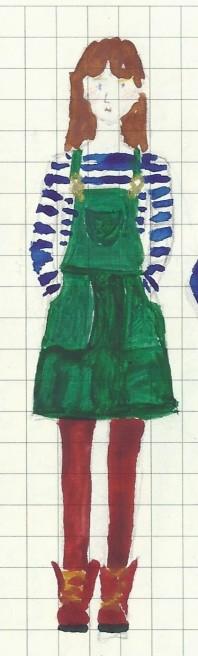 Turia dungaree dress and stripy top